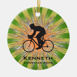 Bicycling Cycling Ornament