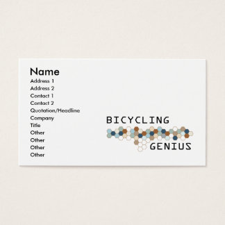 Bicycling Genius Business Card