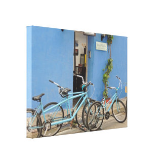 Bicycling in Cartagena Colombia Canvas Print