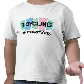 Bicycling Is Forever Tee Shirts