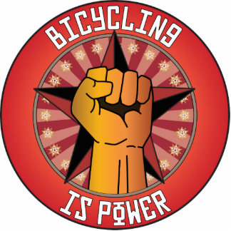 Bicycling Is Power Photo Cut Outs