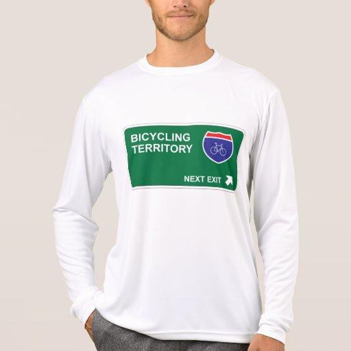 Bicycling Next Exit Tee Shirt