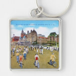 Bicycling on the Boardwalk Keychain