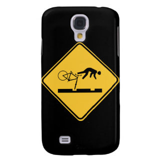 Bicycling on the Tracks - Road Sign Samsung Galaxy S4 Cover