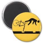 Bicycling on the Tracks - Road Sign Fridge Magnets