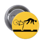 Bicycling on the Tracks - Road Sign Pins