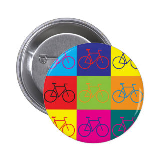 Bicycling Pop Art 2 Inch Round Button