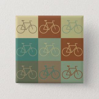 Bicycling Pop Art Button