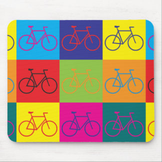 Bicycling Pop Art Mouse Pad