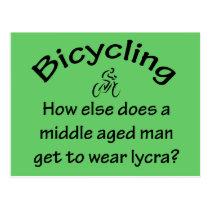 Bicycling Postcard