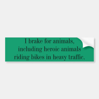 Bicycling support car bumper sticker