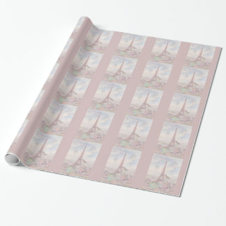 Bicycling through Paris Wrapping Paper
