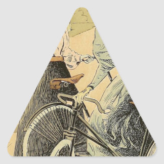Bicycling Triangle Sticker