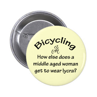 Bicycling Woman Button
