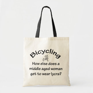 Bicycling Woman Canvas Bag