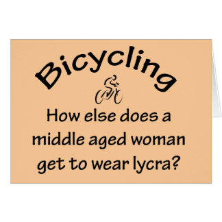 Bicycling Woman Card