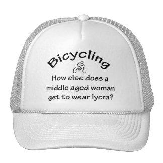 Bicycling Woman Trucker Hats