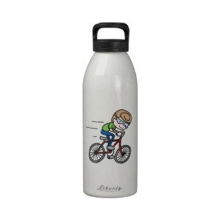 Bicyclist Boy Drinking Bottle