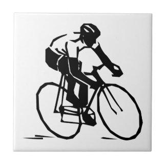 Bicyclist/ciclista/jinete Azulejo Cuadrado Pequeño