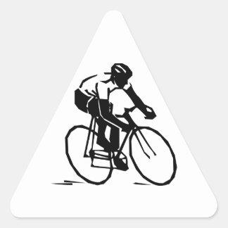 Bicyclist/ciclista/jinete Pegatina Triangular