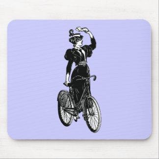 Bicyclist del vintage alfombrilla de raton