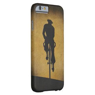 Bicyclist del vintage en caso del teléfono de la funda barely there iPhone 6