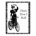 Bicyclist del vintage postal