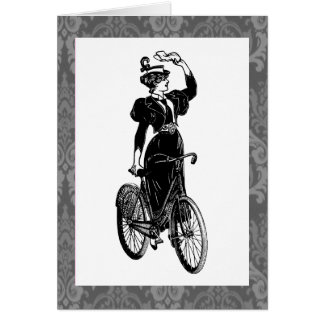 Bicyclist del vintage tarjetón