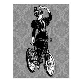 Bicyclist del vintage postales
