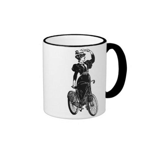 Bicyclist del vintage taza de café
