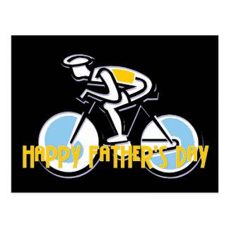 Bicyclist - el día de padre feliz postal