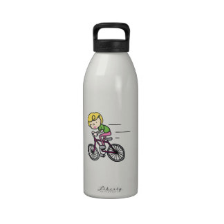 Bicyclist Girl Water Bottle