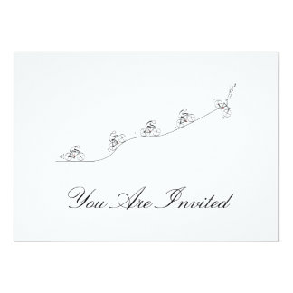 Bicyclist going over the hill card