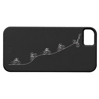 Bicyclist going over the hill iPhone SE/5/5s case