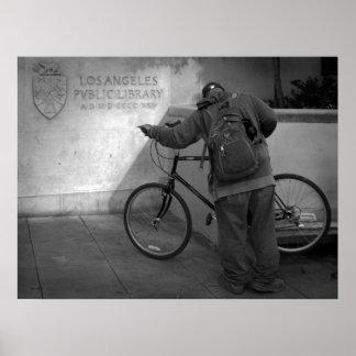 Bicyclist, Los Angeles Public Library Print