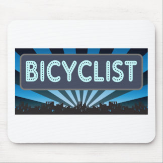 Bicyclist Marquee Mouse Pad
