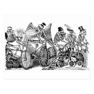 Bicyclists de Calavera circa último 1800's México Postal