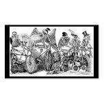 Bicyclists de Calavera circa último 1800's México Tarjetas De Visita