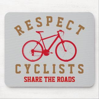 bicyclists del respecto deporte-temáticos mouse pad