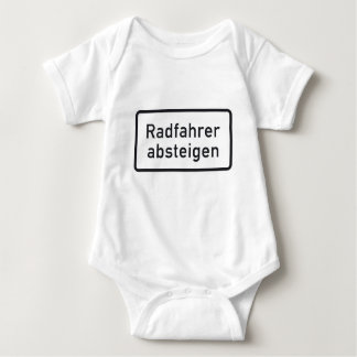 Bicyclists Dismount, Traffic Sign, Germany Baby Bodysuit