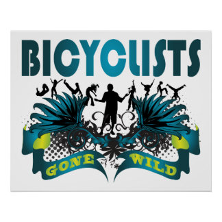 Bicyclists Gone Wild Print