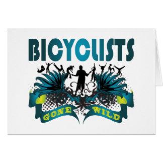 Bicyclists idos salvajes tarjeton