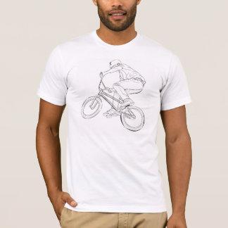 Bicylce Line Drawing, Black/White T-Shirt