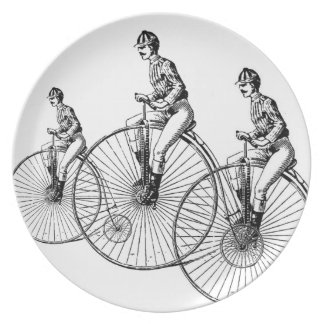 Bicyle turn of the century Design Plate