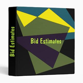 Bid Estimates Binder