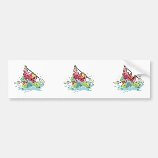 bidarka rapid rafting graphic bumper sticker