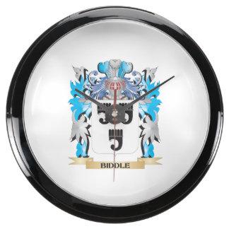 Biddle Coat of Arms Fish Tank Clocks