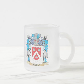 Biddle Coat of Arms Frosted Glass Mug