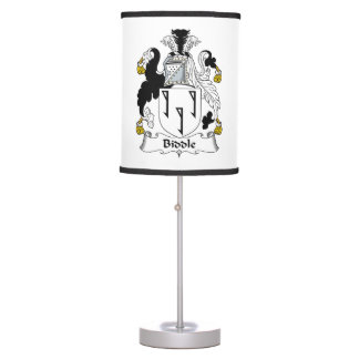 Biddle Family Crest Lamps