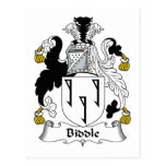 Biddle Family Crest Postcard